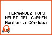 FERNÃNDEZ PUPO NELFI DEL CARMEN Montería Córdoba