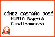 GÓMEZ CASTAÑO JOSÉ MARIO Bogotá Cundinamarca