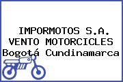 IMPORMOTOS S.A. VENTO MOTORCICLES Bogotá Cundinamarca