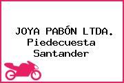 JOYA PABÓN LTDA. Piedecuesta Santander