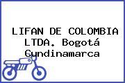 LIFAN DE COLOMBIA LTDA. Bogotá Cundinamarca