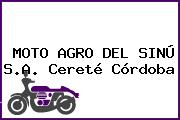 MOTO AGRO DEL SINÚ S.A. Cereté Córdoba