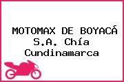 MOTOMAX DE BOYACÁ S.A. Chía Cundinamarca