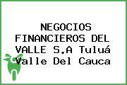 NEGOCIOS FINANCIEROS DEL VALLE S.A Tuluá Valle Del Cauca