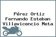 Pérez Ortiz Fernando Esteban Villavicencio Meta
