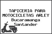 TAPICERIA PARA MOTOCICLETAS ARLEY Bucaramanga Santander