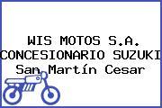WIS MOTOS S.A. CONCESIONARIO SUZUKI San Martín Cesar