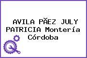 AVILA PÃEZ JULY PATRICIA Montería Córdoba