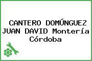CANTERO DOMÚNGUEZ JUAN DAVID Montería Córdoba