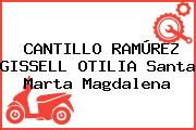 CANTILLO RAMÚREZ GISSELL OTILIA Santa Marta Magdalena