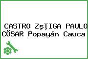 CASTRO ZºÞIGA PAULO CÕSAR Popayán Cauca