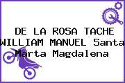 DE LA ROSA TACHE WILLIAM MANUEL Santa Marta Magdalena