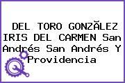 DEL TORO GONZÃLEZ IRIS DEL CARMEN San Andrés San Andrés Y Providencia