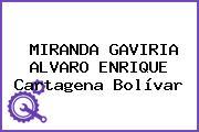 MIRANDA GAVIRIA ALVARO ENRIQUE Cartagena Bolívar