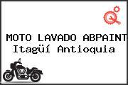 MOTO LAVADO ABPAINT Itagüí Antioquia