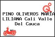 PINO OLIVEROS MARÍA LILIANA Cali Valle Del Cauca