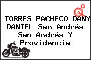 TORRES PACHECO DANY DANIEL San Andrés San Andrés Y Providencia
