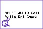 VÉLEZ JULIO Cali Valle Del Cauca