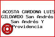 ACOSTA CARDONA LUIS GILDARDO San Andrés San Andrés Y Providencia