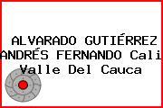 ALVARADO GUTIÉRREZ ANDRÉS FERNANDO Cali Valle Del Cauca
