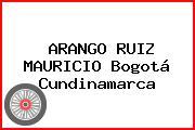 ARANGO RUIZ MAURICIO Bogotá Cundinamarca