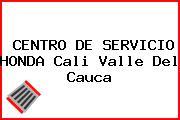 CENTRO DE SERVICIO HONDA Cali Valle Del Cauca