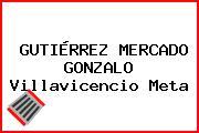 GUTIÉRREZ MERCADO GONZALO Villavicencio Meta