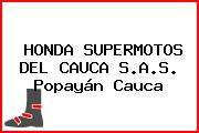 HONDA SUPERMOTOS DEL CAUCA S.A.S. Popayán Cauca