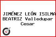 JIMÉNEZ LEÓN ISILMA BEATRIZ Valledupar Cesar