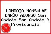 LONDOÞO MONSALVE DARÚO ALONSO San Andrés San Andrés Y Providencia