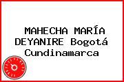 MAHECHA MARÍA DEYANIRE Bogotá Cundinamarca