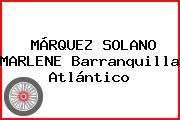 MÁRQUEZ SOLANO MARLENE Barranquilla Atlántico