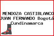 MENDOZA CASTIBLANCO JUAN FERNANDO Bogotá Cundinamarca