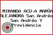 MIRANDA ACU?A MARÚA ALEJANDRA San Andrés San Andrés Y Providencia