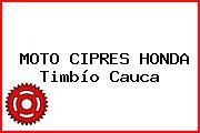 MOTO CIPRES HONDA Timbío Cauca