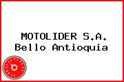 MOTOLIDER S.A. Bello Antioquia