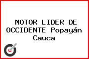 MOTOR LIDER DE OCCIDENTE Popayán Cauca