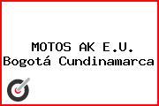 MOTOS AK E.U. Bogotá Cundinamarca