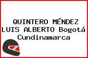 QUINTERO MÉNDEZ LUIS ALBERTO Bogotá Cundinamarca
