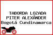 TABORDA LOZADA PITER ALEXÁNDER Bogotá Cundinamarca