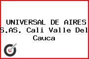 UNIVERSAL DE AIRES S.AS. Cali Valle Del Cauca